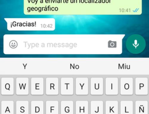 Cómo enviar un localizador geográfico por WhatsApp